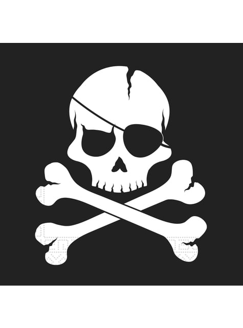 20 servilletas Pirates Black (33x33 cm)