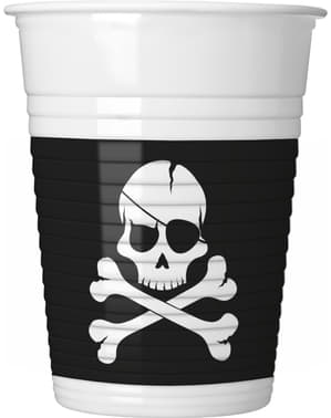 Набір з 8 піратів чорних чашок