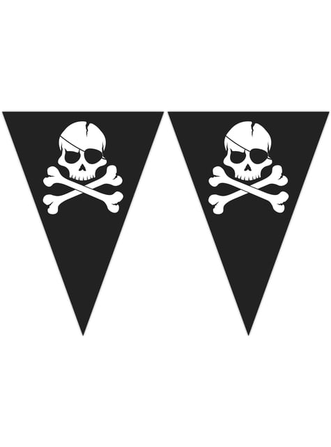 Guirnalda triángulos Pirates Black