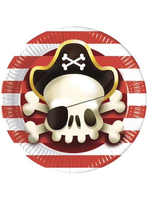 Set of 8 big Powerful Pirates plates