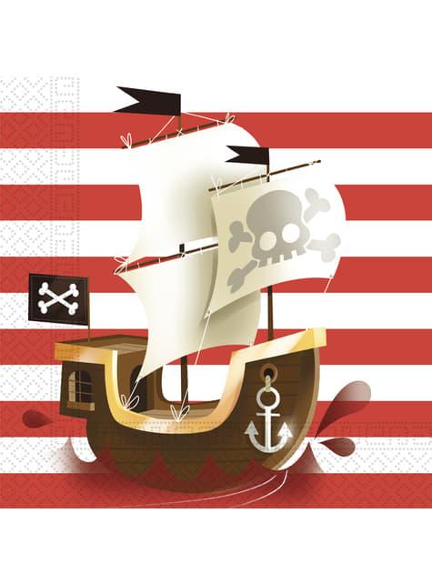 20 Serviettes en papier Powerful Pirates