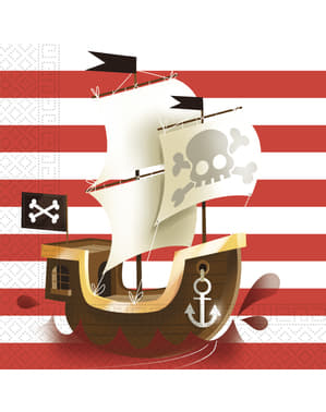 20 servetter Powerful Pirates (33x33 cm)