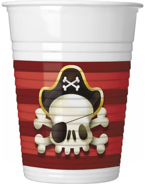 8 bicchieri Powerful Pirates