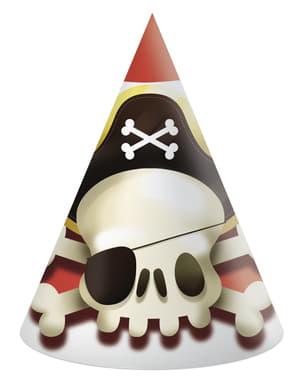 Sæt af 6 små pirat hatte