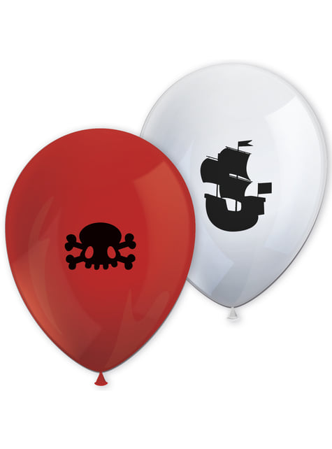 8 ballons Powerful Pirates