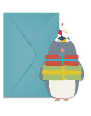 6 Noordpool uitnodigingen
