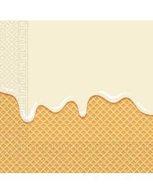 20 Passie voor Ijs servetten (33x33 cm)