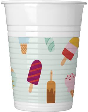 8 vasos Ice Cream Passion