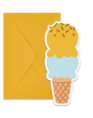 6 Ice Cream Passion invitations