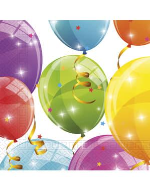 20 servilletas Sparkling Balloons (33x33 cm)