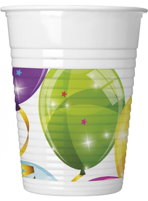 8 vasos Sparkling Balloons