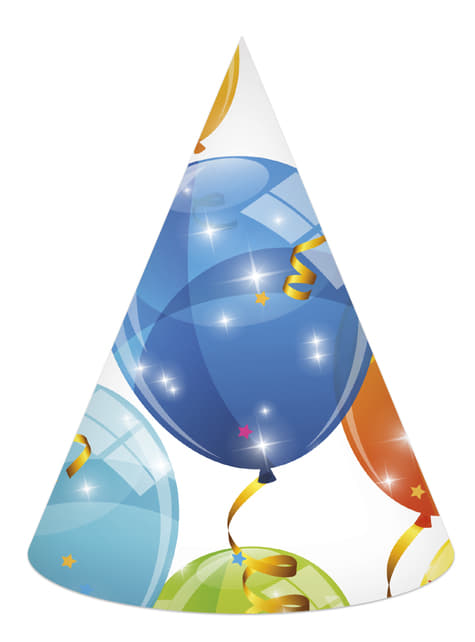 6 cappellinini di Sparkling Baloons