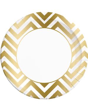 8 platos Collection dorados (23 cm)