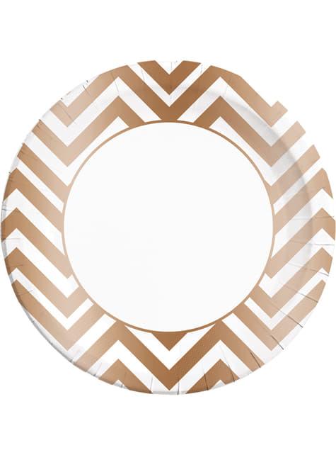 8 platos Collection cobre (23 cm)
