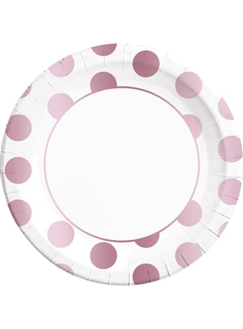 8 platos Dots Collection morados (23 cm)