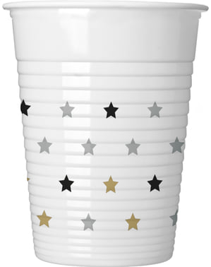 8 bicchieri di stelle di compleanno