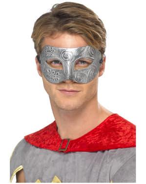 Maska wojownika metaliczna