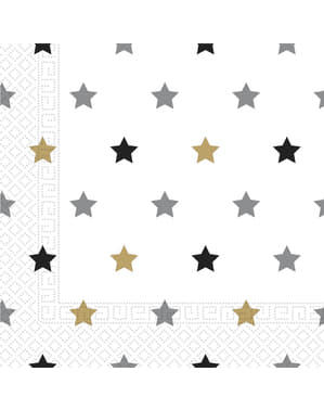 20 birthday stars napkings (33x33 cm)