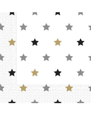 Sæt af 20 fødselsdags stjerne servietter