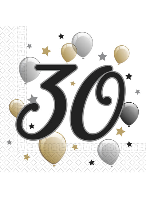 20 servilletas 30 cumpleaños (33x33 cm)