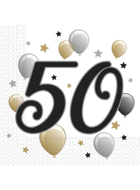 50. Geburtstag Servietten Set 20-teilig