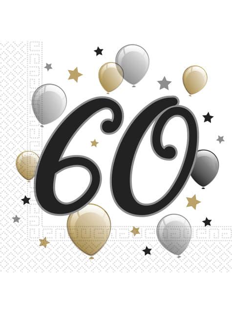 20 servilletas 60º cumpleaños (33x33 cm)