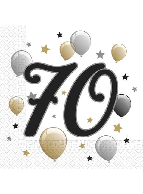 20 70th birthday napkings (33x33 cm)