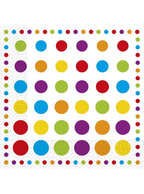 20 Serviettes en papier Color Dots