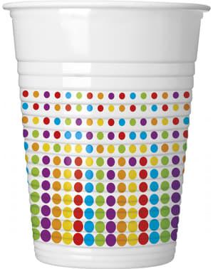 8 vasos Color Dots