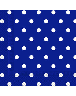 20 servilletas Blue Royal Dots (33x33 cm)