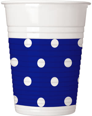 8 vasos Blue Royal Dots