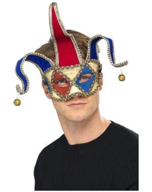 Masque de bouffon musicien de Venise