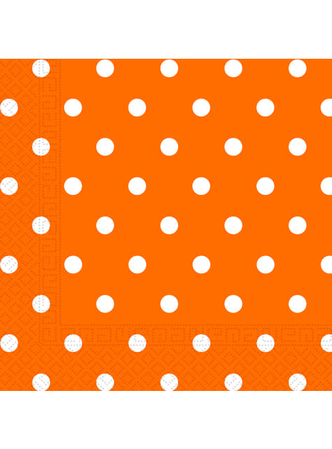 20 servilletas Orange Dots (33x33 cm)