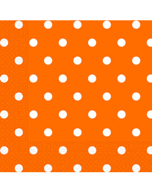 20 Serviettes en papier Orange Dots