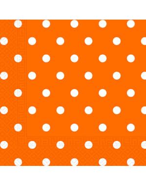 Zestaw 20 serwetek Orange Dots