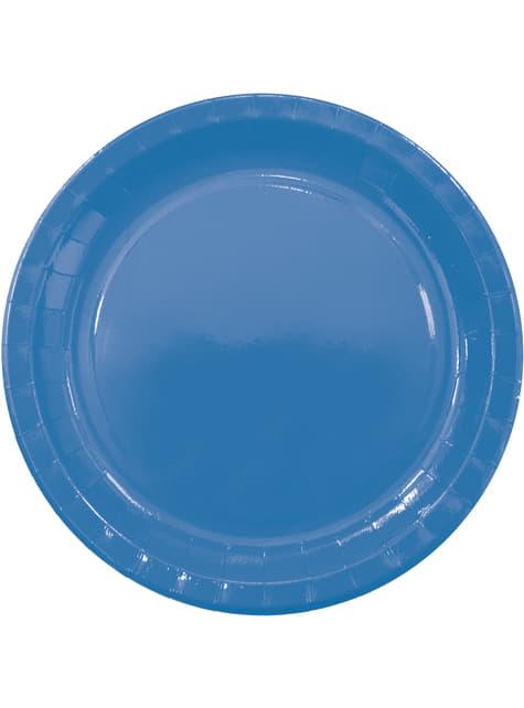 8 platos Blue Solid (23 cm)