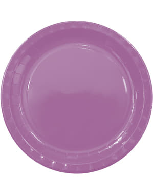 8 grandes assiettes Purple Solid