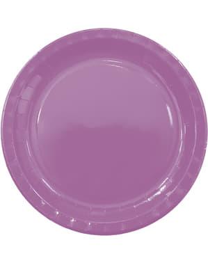 8 paarse borden (23cm) - Basis kleuren lijn