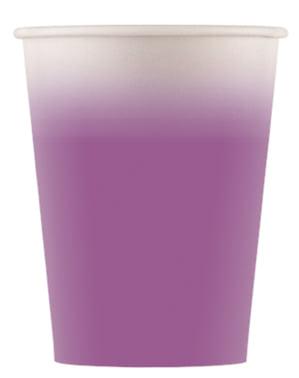 8 Fioletowe Kubki Ombre - Linia Kolorów Podstawowych