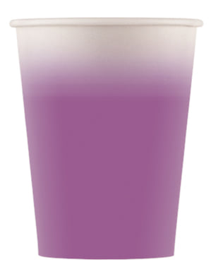 8 vasos morado degradado - Línea Colores Básicos