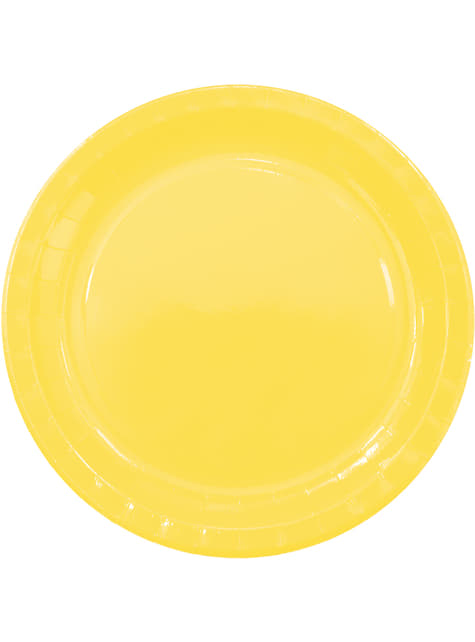 8 platos Yellow Solid (23 cm)
