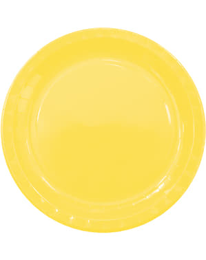 8 grandes assiettes Yellow Solid