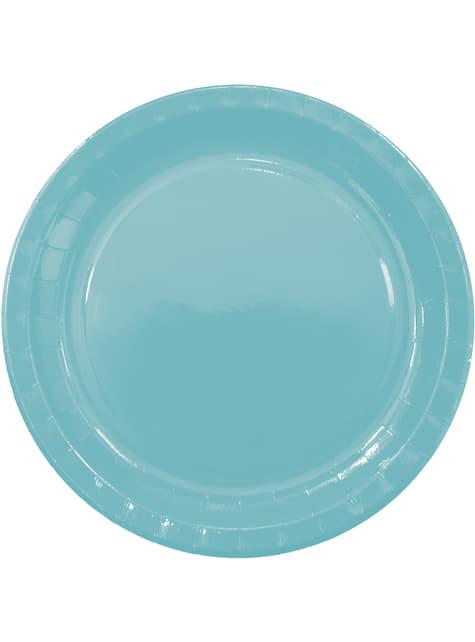 8 platos Green Solid (23 cm)