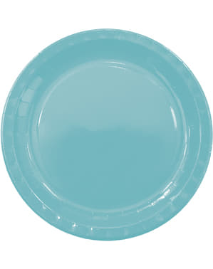 8 Light Blue Plates (23cm) - Basic Colours Line
