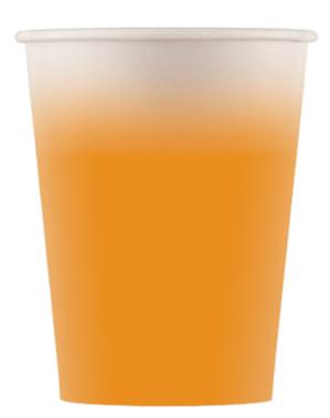 8 vasos naranjas claros - Línea Colores Básicos