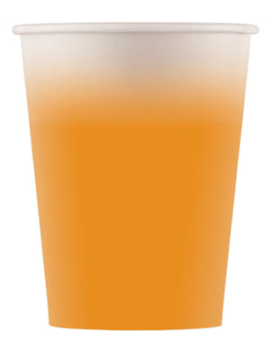 8 Light Orange Cups - Basic Colours Line