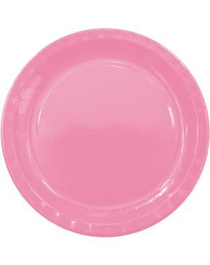 8 grandes assiettes Pink Solid
