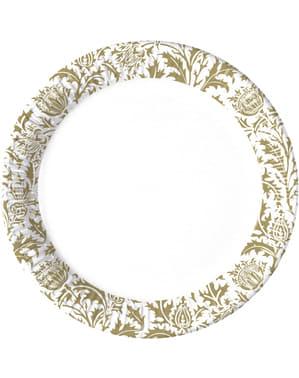 8 platos Royal Flowers (23 cm)
