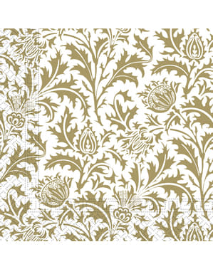 20 Royale Bloemen servetten (33x33 cm)
