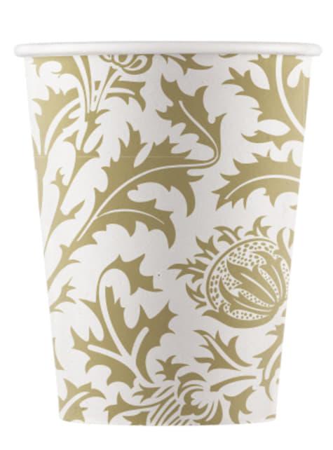 8 vasos de papel Royal Flowers
